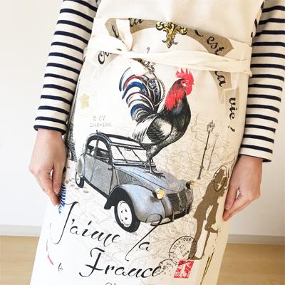 フランス製エプロン・フランスパノラマFrance Panorama 【フランス雑貨カフェグッズ】
