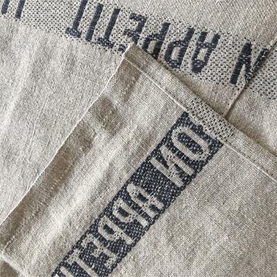 リネンエプロン・フランス老舗ブランド・シャルベエディション・ボナペティブラック 【CHARVET EDITIONS】おしゃれでかわいいフランス直輸入リネンエプロン