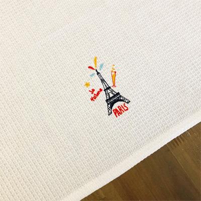 新入荷!!かわいいBAGに入ったエッフェル塔刺繍入りキッチンクロス 【フランスキッチン雑貨】