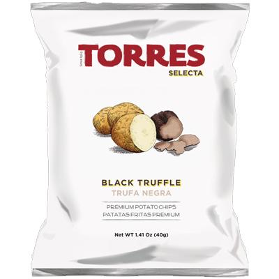 黒トリュフポテトチップス 40g 【トーレス/スペイン産】高級ポテト・輸入菓子・海外旅行お土産・お取り寄せ