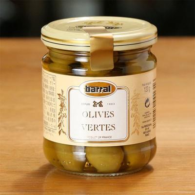 グリーン オリーブ(120g)【barral/バラル】南フランス産|サラダに・おつまみに|おすすめのフランス輸入食品