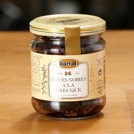 ブラック オリーブ ギリシャ風(120g)南フランス産|サラダに・おつまみに|おすすめのフランス輸入食品
