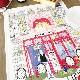 ビストロのティータオル|フランス直輸入雑貨・ファブリックポスター<レターパックライトOK>