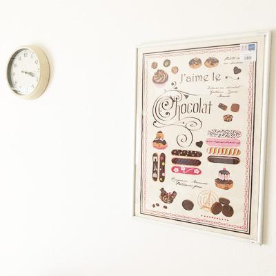 ティータオル│エクレアのティータオル│お皿の水切り・ポスターに。<フランス雑貨>ギフトにおすすめ
