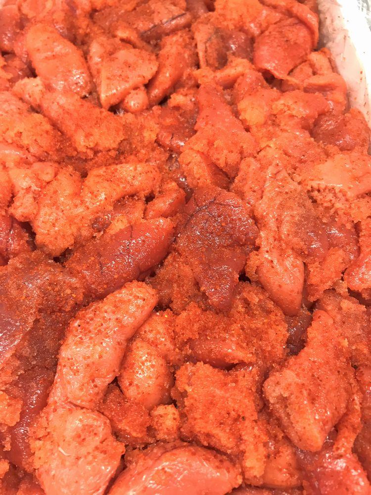辛子明太子 2kg 業務用【国内加工・切れ子】辛さほど良く、切れ子なので使いがっても良い明太子です【冷凍便】