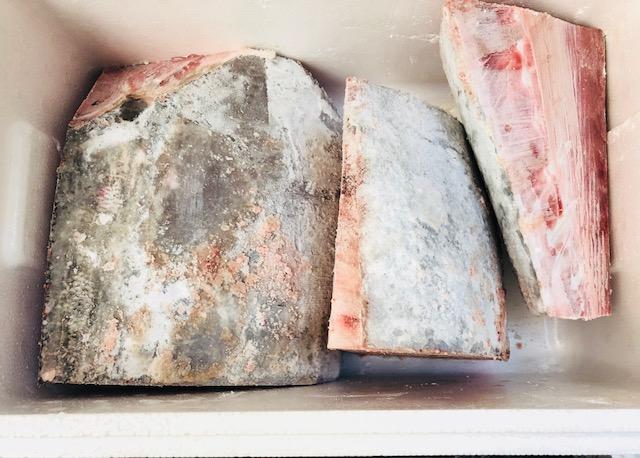 冷凍バチマグロのブロック(皮骨付き) 約10kg