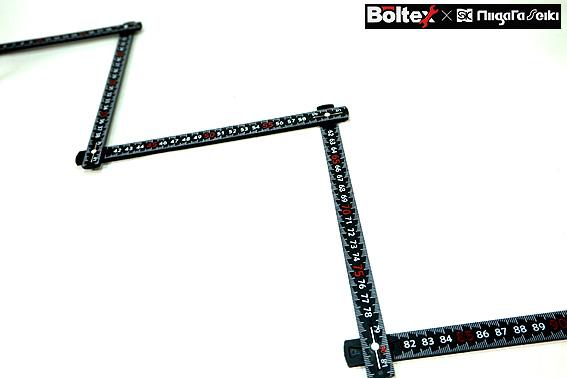 【ボルテックス】BOLTEX 剛尺  折尺 ブラック 1m 5折 GS-1<BR>しなりの少ない 使い勝手の良い折尺【寅壱・関東鳶・鉄筋 職人向け工具】