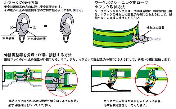 【椿モデル】【スチールスライド スチールD環】胴ベルト・補助ベルト セット ワークポジショニング用 器具 HC-S(通信線・送電線・配電線 等 工事用  )