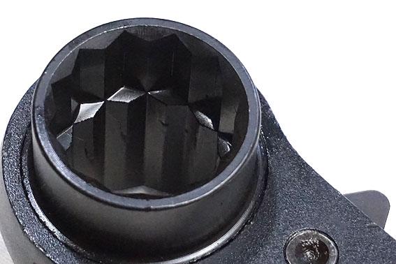 【YJM 】両口ラチェットレンチ シノ付き 27X32mm