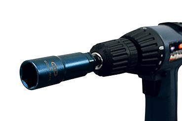 【MKK】タイトニングソケット 19mm TS-19R 18V対応。電動と手動の2種類で脱着が出来るソケット 【インパクト用ソケット】【エムケーケー】 【寅壱・関東鳶職人向け工具】