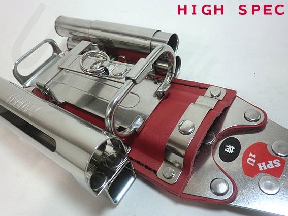 【MIKI 特注ハイスペックモデル】【SPH1U-RE型 赤】ハッカーケース (ハッカー・カッター・折尺・16mmマーカーX2・チョークケース付き)【三貴】 【寅壱・関東鳶・鉄筋職人向け工具】