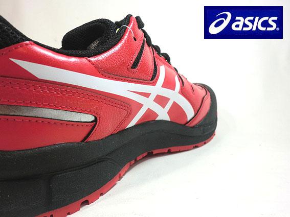 【送料無料】アシックス 安全靴 スニーカーひもタイプFCP-103 【レッドXホワイト】ウィンジョブ【作業用安全靴】JSAA規格A種 3E ASICS