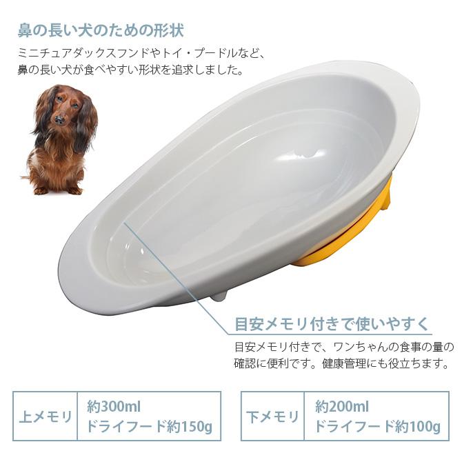 HARIO ハリオ ワンコプレート N 鼻の長い犬種向けフードボウル