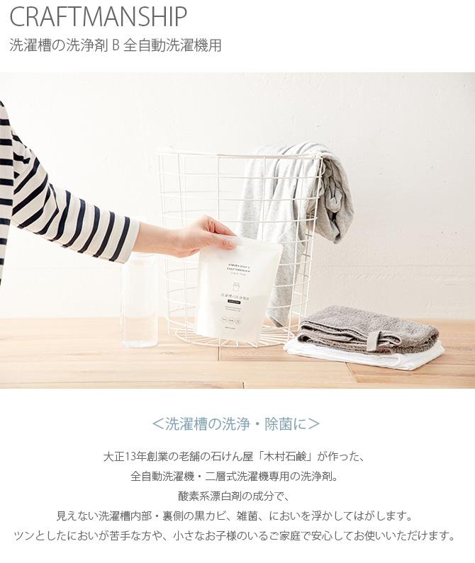 CRAFTMANSHIP クラフトマンシップ 洗濯層の洗浄剤 B 全自動洗濯機用