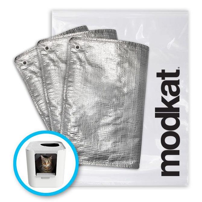 modkat モデキャットXL 交換用インナー砂袋 上と前から入るタイプ モデキャットXL FRリューザブルライナー(3枚入)