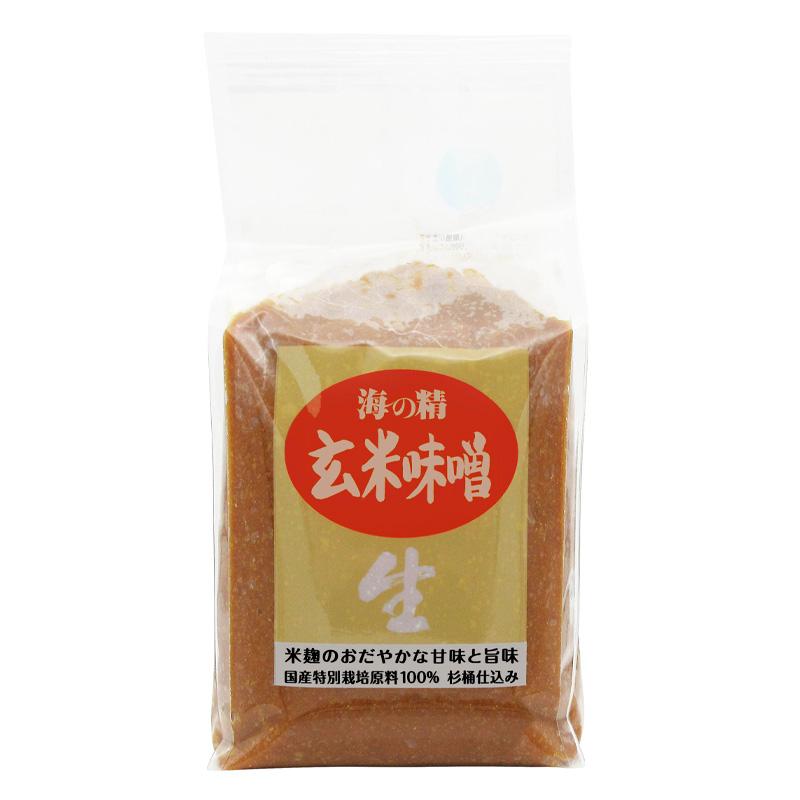 海の精 国産特栽・玄米味噌 1kg