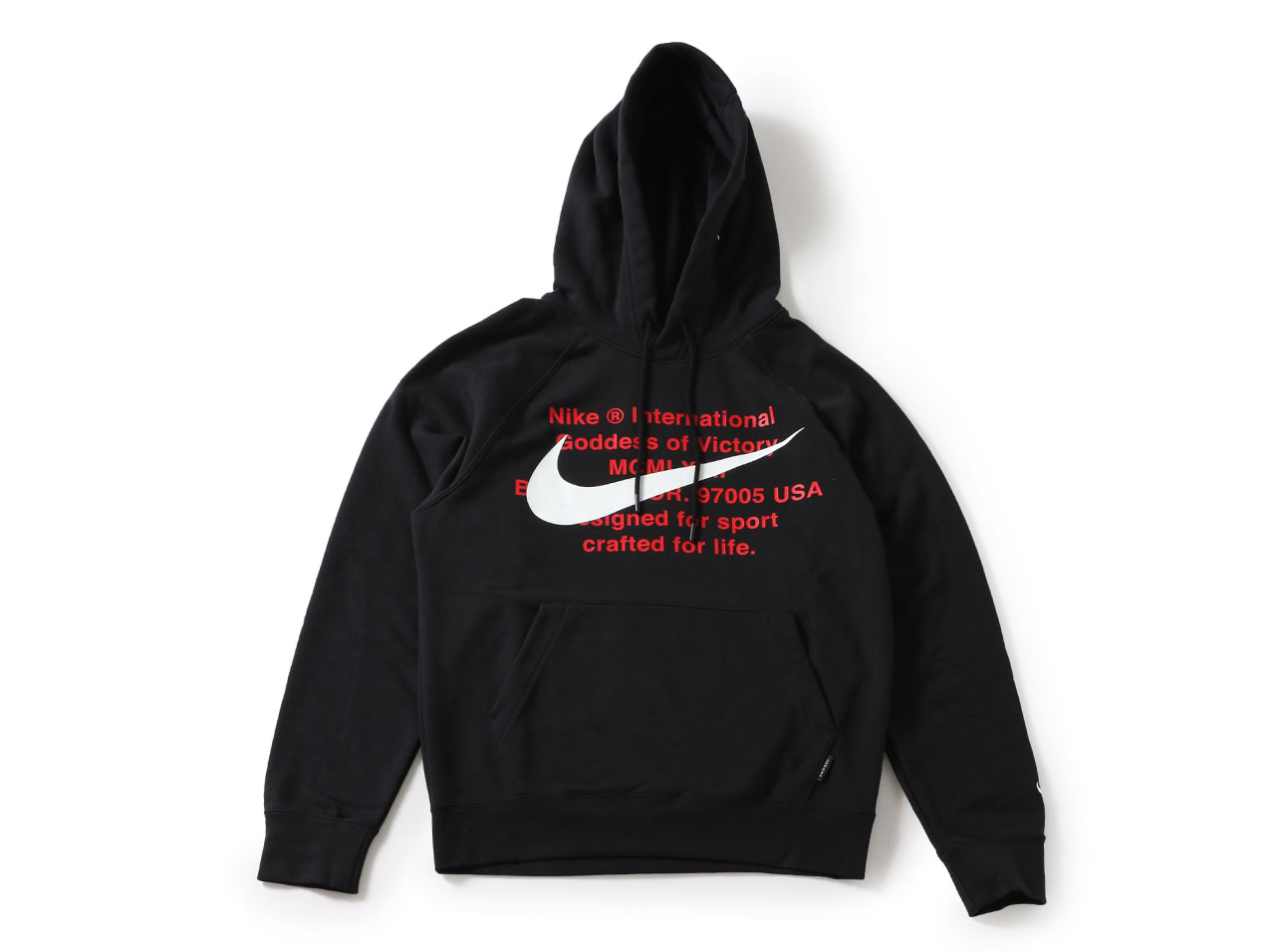 【40%OFF】NIKE SWOOSH FRENCH TERRY POHOODY - BLACK