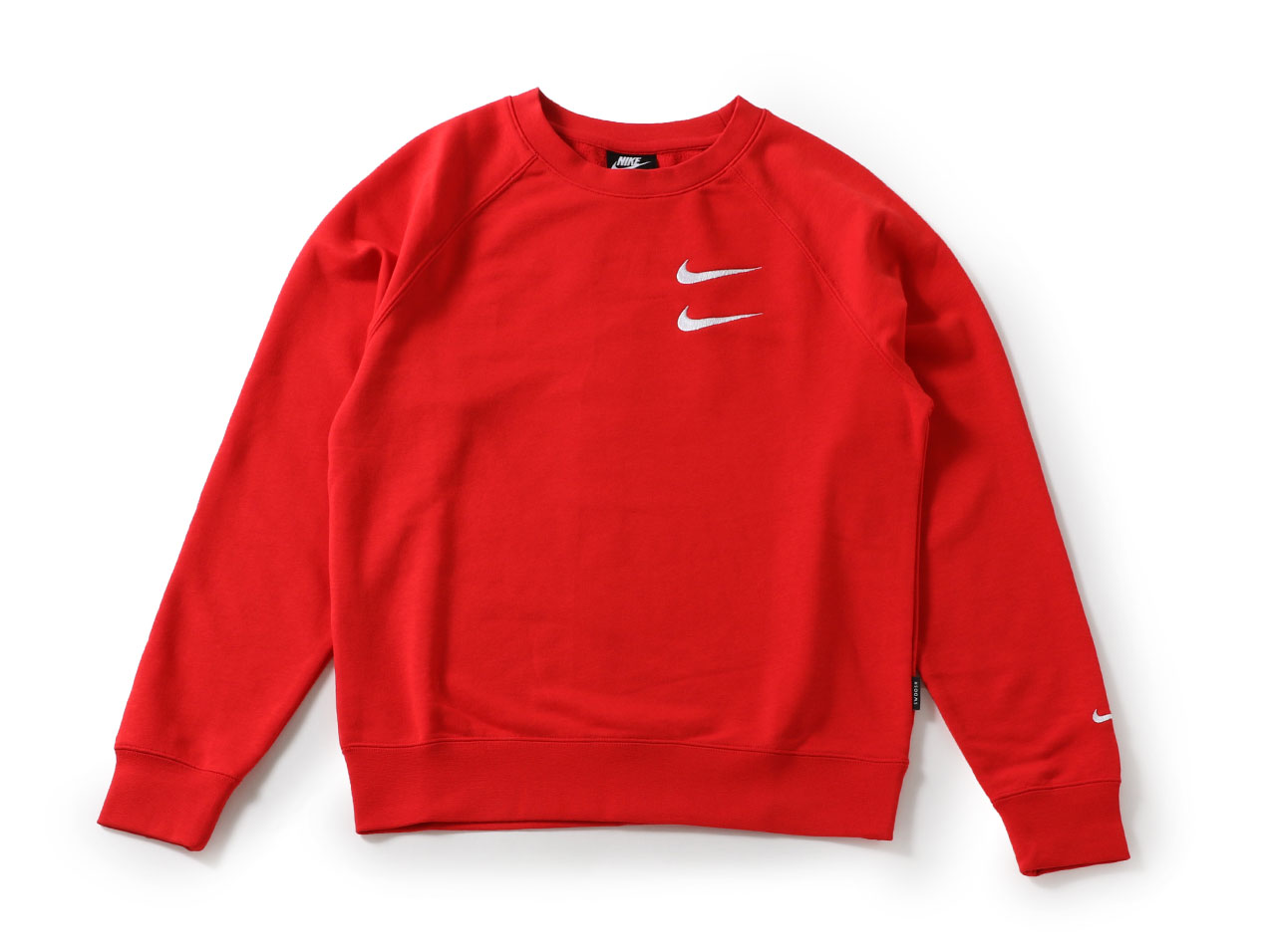 【SALE】NIKE SWOOSH CREW FRENCH TERRY - RED