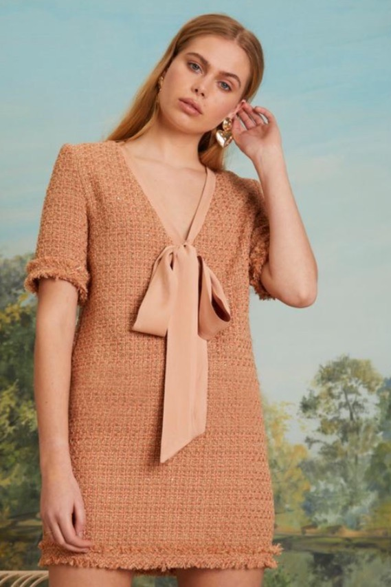 【SALE】 17800→12460 sister jane(シスタージェーン)/Up And Up Tweed Dress
