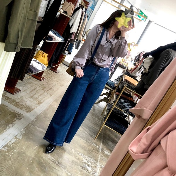 sister jane(シスタージェーン)/ライラックサテンボウタイブラウス