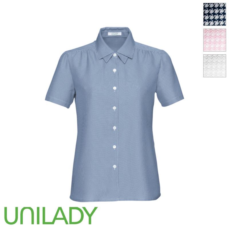 半袖デザインブラウス U81653 UNILADY ユニレディー