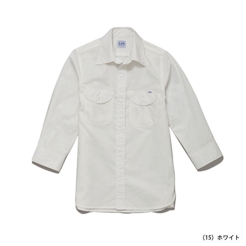 Lee シャンブレー七分袖シャツ[女性用]77-LCS43004
