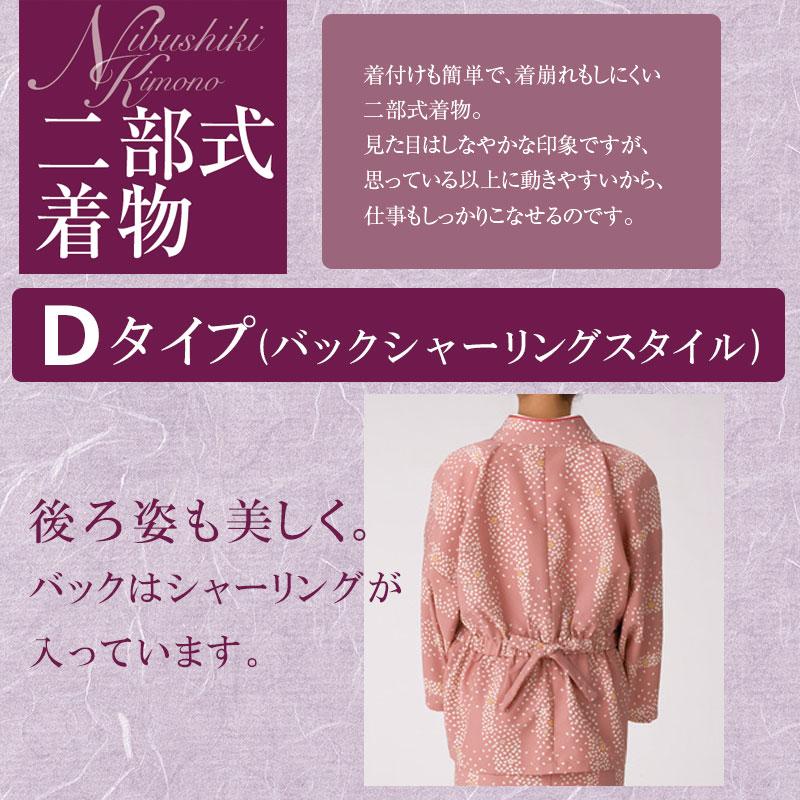 二部式着物 【Dタイプ】 [女性用] NI-3008 風香 コウヤ