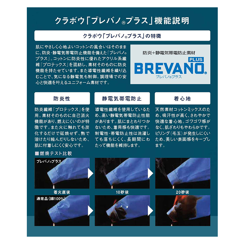 防炎エプロン [男女兼用] VA501