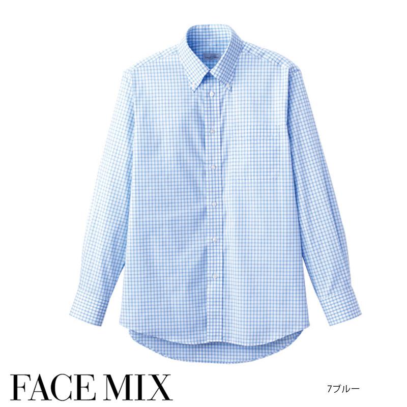 グラフチェック長袖シャツ[男女兼用] 77-FB4506U