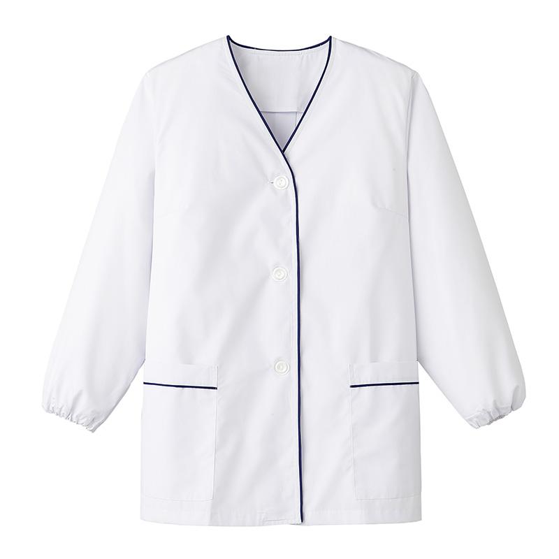 【特価】衿無し調理衣 長袖 [女性用] FA-380