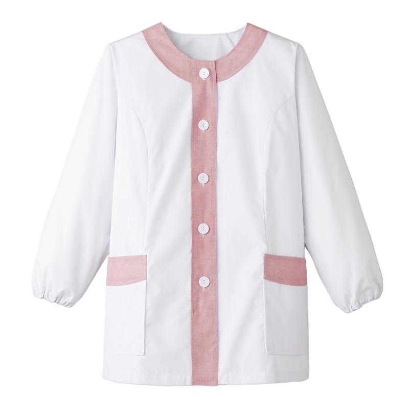 【特価】衿無し調理衣 長袖 [女性用] FA-723