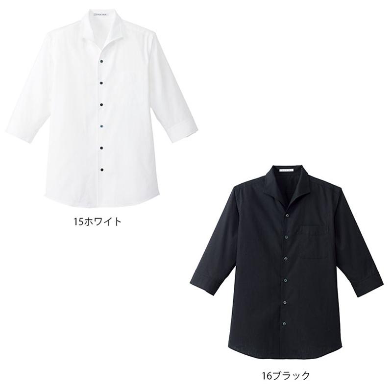 イタリアンカラー七分袖シャツ [男性用] 77-FB5034M