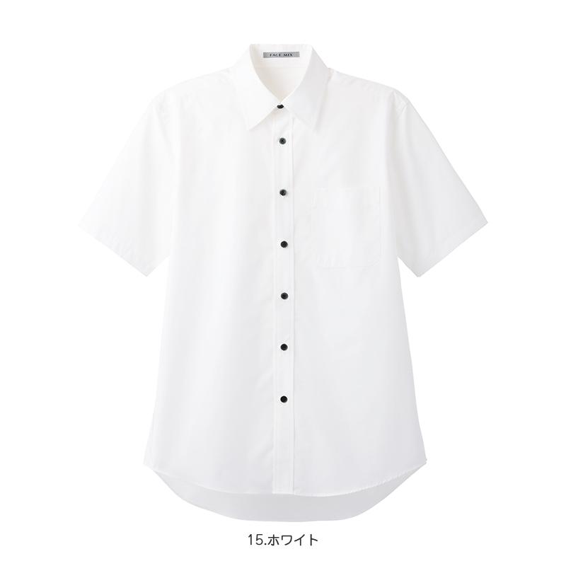 ブロードレギュラーカラー半袖シャツ [男女兼用] 77-FB4527U