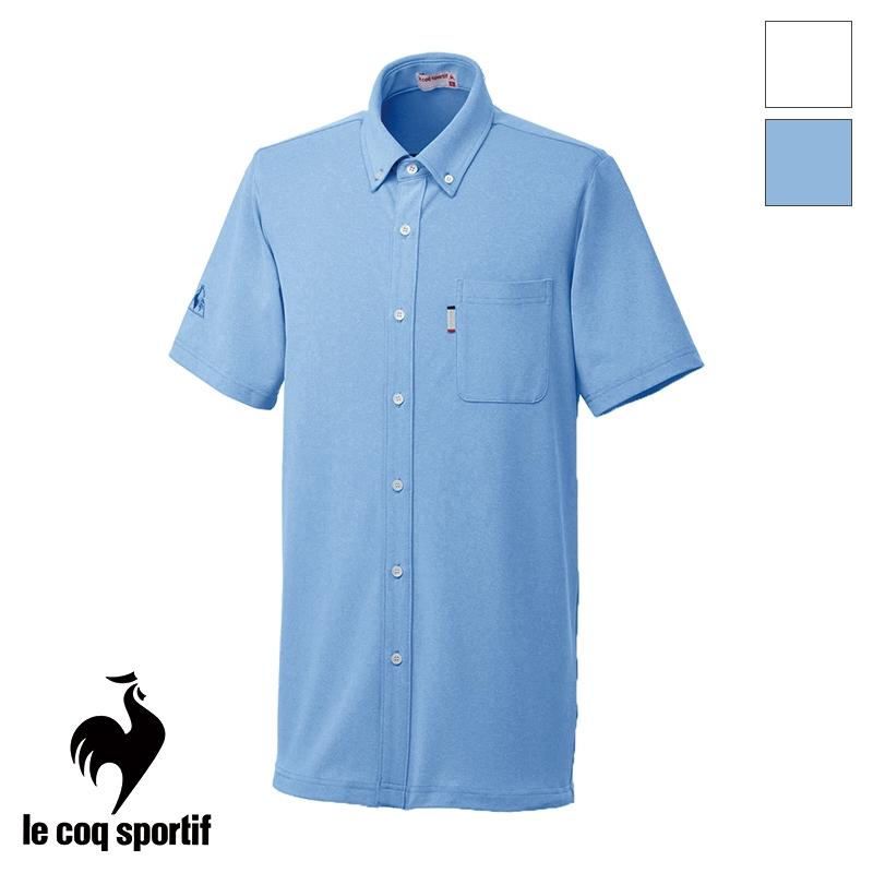 【返品不可】ニットシャツ [男女兼用] UZL3064 ルコック