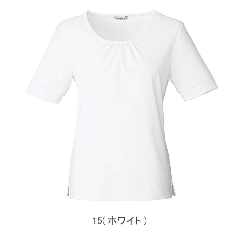 ラウンドネック半袖ニット [女性用] 77-KK7802