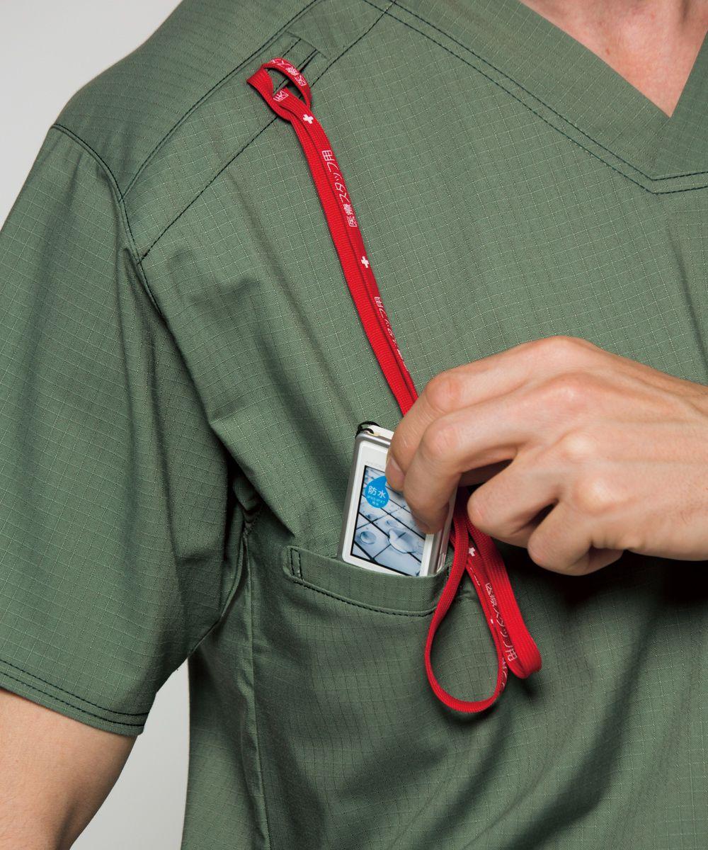 スクラブ FOLK DICKIES 7045SC ユニフォーム 医師 ナース服 チームスクラブ クリニック ドクター 医療 美容 介護 看護 整体 ストレッチ おしゃれ 介護服 手術着 医療用 制服