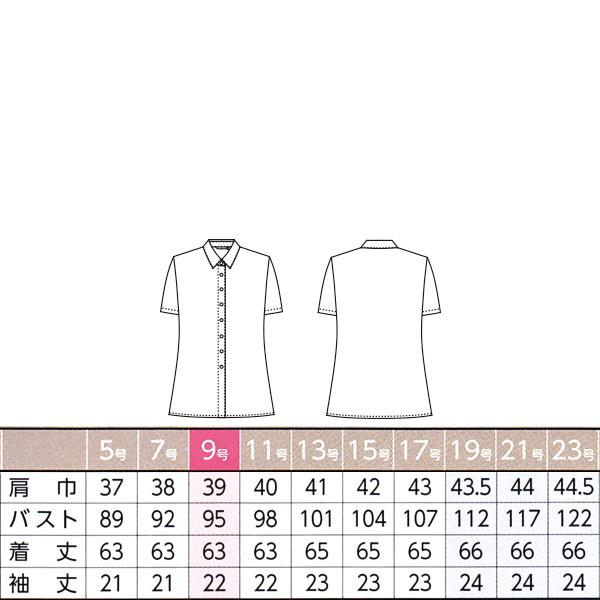 事務服 ノーアイロン【ニット】 半袖シャツブラウス AR1629 ハイゲージフルダルトリコット アルファピア