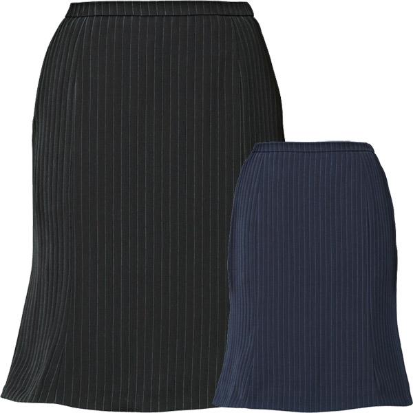 事務服 ゴムinマーメイドラインスカート EAS647 ノルディスストライプ エンジョイ