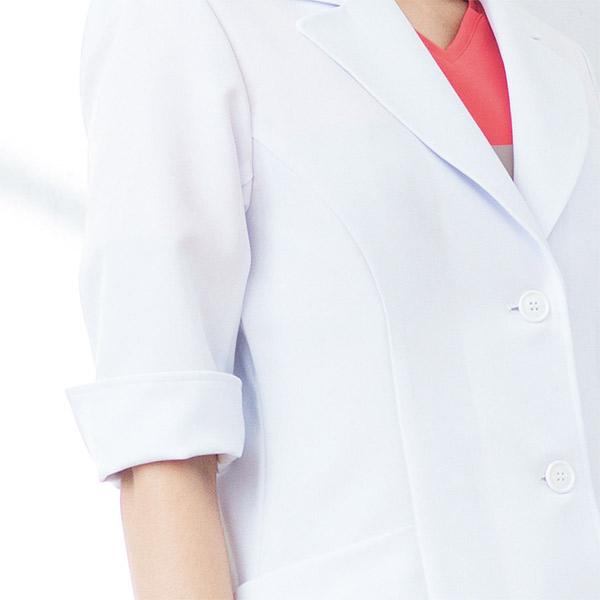 医療ドクター白衣 レディスコート HI402 2WAYストレッチサージ ワコールHIコレクション フォークFOLK