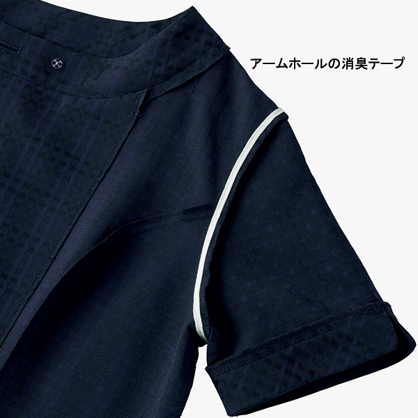 【上品ツヤ】事務服 オーバーブラウス BCJ0710 ニュアンスドビー ボンシェルジュ