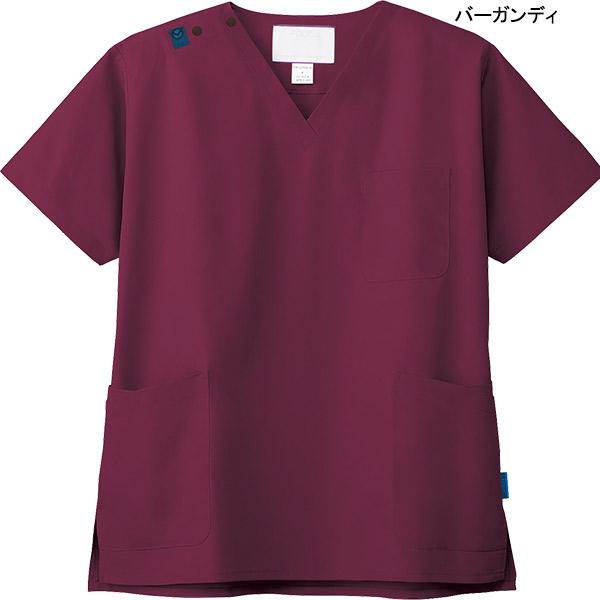 【次亜塩素酸ナトリウム対応】医療カラー白衣 男女兼用ジアスクラブ 7070SC ジアポプリン フォーク