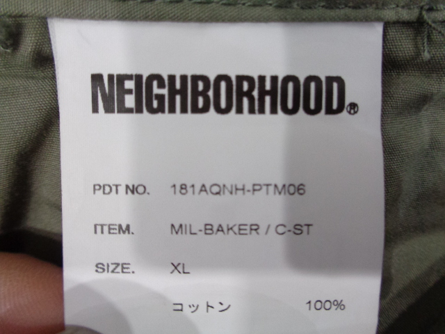 "WTAPS ダブルタップス18ss ""MIL-BIKER / C-ST"" Size-XL パンツ 181AQNH-PTM06ブランド古着大名店【中古】"