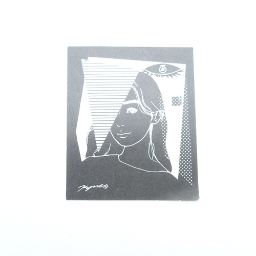 KYNE GIRL STICKER [BLACK] キネ ガール ステッカー ブラック シール 大名店【中古】