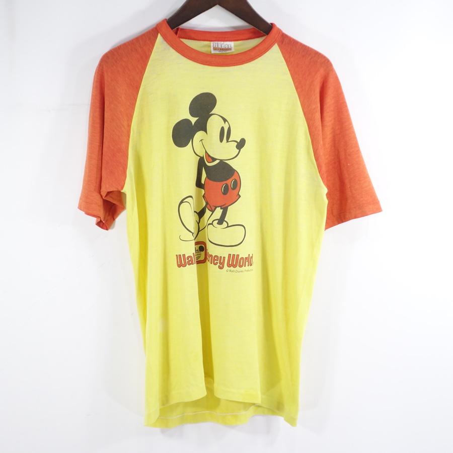 VINTAGE 70s MICKEY RAGLAN TEE ヴィンテージ ミッキー マウス ラグラン Tシャツ 大名店【中古】