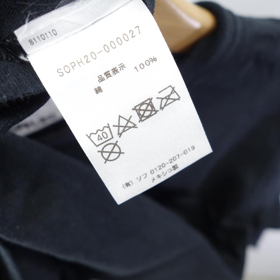 "KIYONAGA&CO キヨナガアンドコー""SOPH.20 L/S ARM PRINT TEE"" Size-S BLACK ロンT"