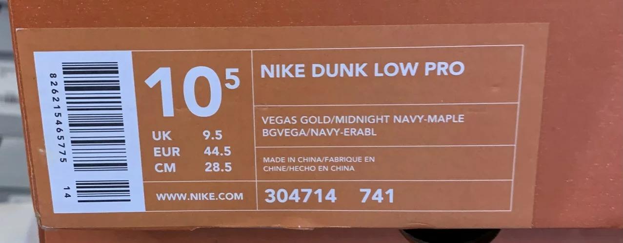 NIKE DUNK LOW PRO VEGAS GOLD 2003年 28.5cm 304714-741 ナイキ ダンクロープロ ベガスゴールド南堀江