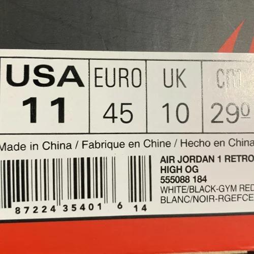 NIKE AIR JORDAN 1 RETRO HIGH OG BLACK TOE 555088-184 ナイキエアジョーダン1レトロハイ南堀江