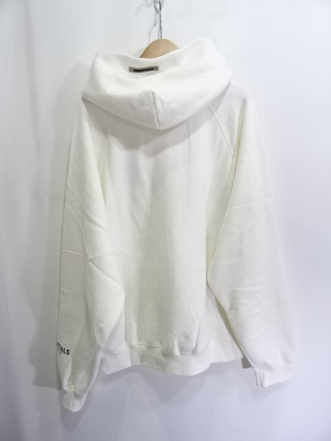 ESSENTIALS by FEAR OF GOD 20ss 3D SILICON BOXY HOODIE WHITE SIZE L 大名店【中古】