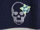 LUCIEN PELLAT-FINET ハイビスカス スカル ボーダー カシミヤ カーディガン ルシアン ペラフィネ ドクロ 大名店【中古】