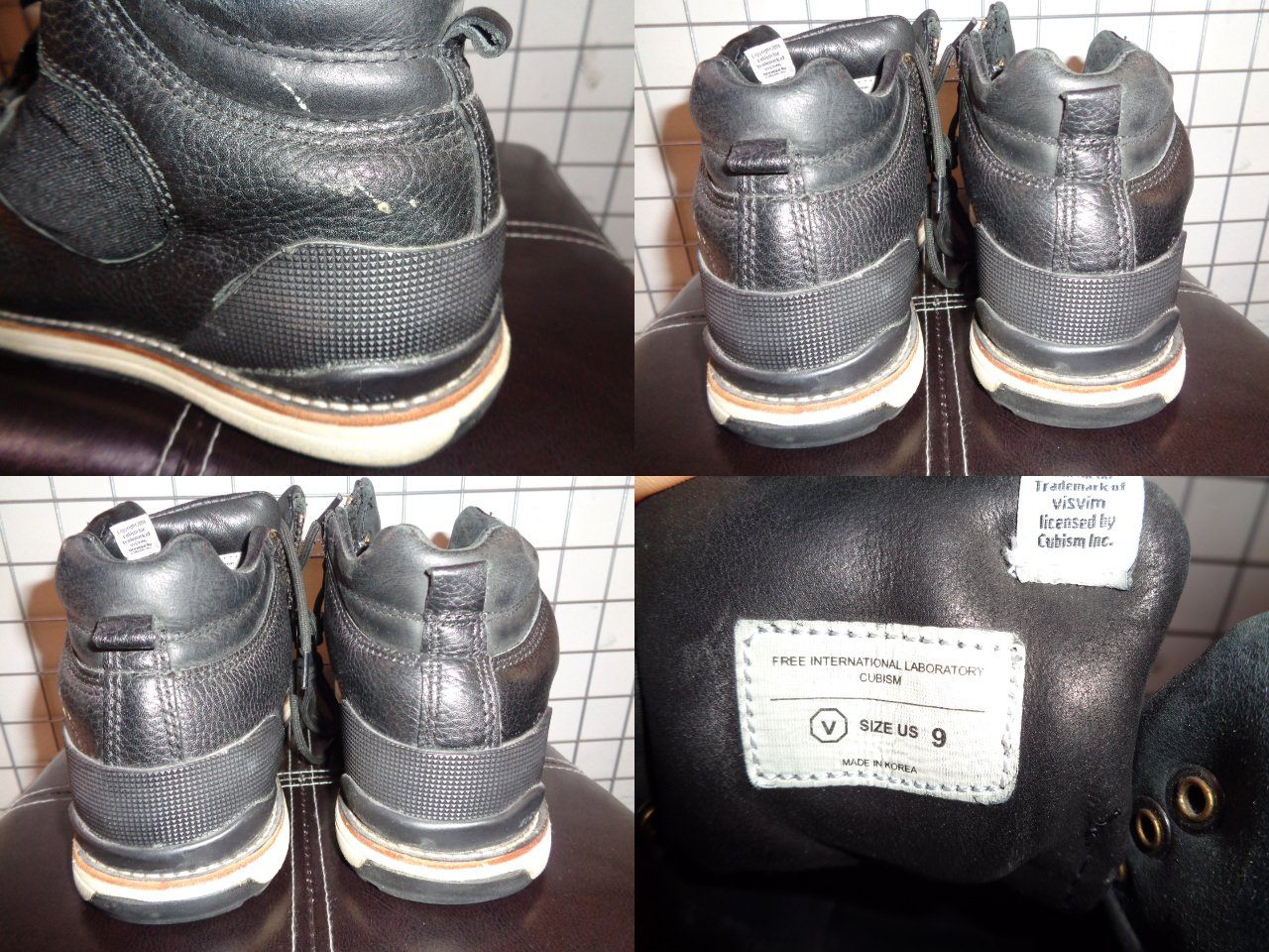 "VISVIM ヴィスヴィム""SERRA VEGGIE ZIP"" [BLACK] ブーツ Size-27cm レザーブランド古着【中古】"